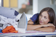 I hate ironing Stock Image