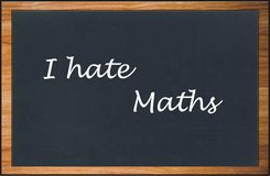 I hate maths Royalty Free Stock Images
