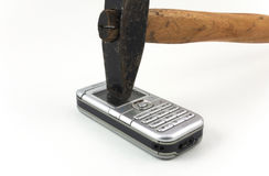 I hate mobile phone. I hate the mobile phone Royalty Free Stock Photo