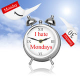 I hate Mondays. I hate to wake up on Monday Stock Images