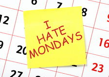 I Hate Mondays Stock Photography