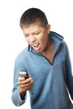 I hate my cell phone Stock Images