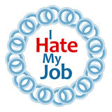 I Hate My Job Blue Rings Circular Royalty Free Stock Images