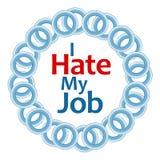 I Hate My Job Blue Rings Circular Royalty Free Stock Images