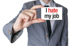 I hate my job Royalty Free Stock Images
