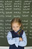 I hate school! Royalty Free Stock Photography