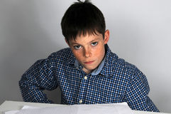 I hate school homework Stock Photography