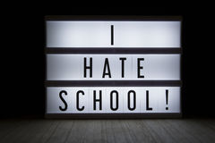 I hate school Stock Images