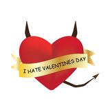 I hate valentines day Stock Images