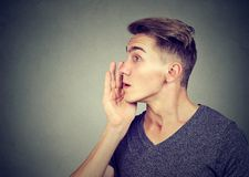 Free I Have A Secret To Tell You. Man Whispering A Gossip Stock Photos - 102743833