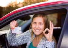I have become a driver! Royalty Free Stock Photography