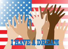 I have a dream. Hands of different people are lifted upwards Stock Photography