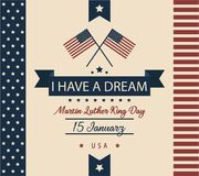 Martin Luther King jr. day card. I have a dream card or background, martin Luther king day greeting. vector illustration royalty free illustration