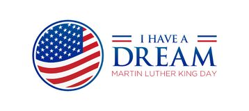 I have a Dream Martin Luther King Jr. Day Icon. I have a Dream Martin Luther King Jr. Day Isolated Icon or Illustration stock illustration