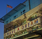 I have a dream. Political statement illuminated at US embassy in Berlin Royalty Free Stock Photography