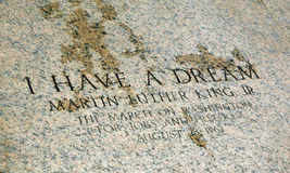 I have a dream on the stone Stock Photography