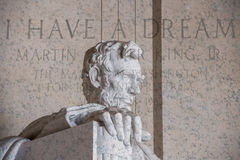 I have a dream writing at lincoln memorial Royalty Free Stock Photo