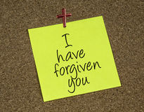 I have forgiven you Stock Photography