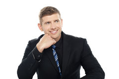 I have an idea. Businessman thinking Stock Images