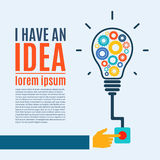 I have an idea, creative conceptual background Royalty Free Stock Photography