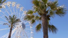 Ferris wheel on the sky backgrond - 4K stock footage