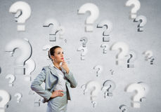 I have so many questions to ask! Royalty Free Stock Images