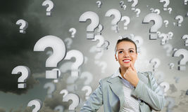 I have so many questions to ask! Royalty Free Stock Photography
