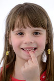 I have new tooth Stock Photo