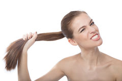 I have a strong hair Royalty Free Stock Photo