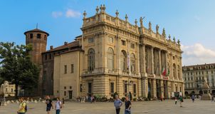 Palazzo Madama during a sunny day in summer 2018 royalty free stock image