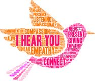 I Hear You Brain Word Cloud. On a white background Royalty Free Stock Images
