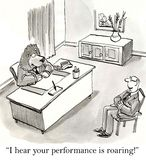 I hear your performance is roaring along Stock Photo