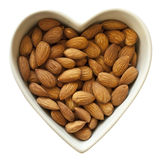 I heart almonds Royalty Free Stock Images