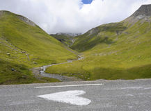 I Heart the Alps. Heart drawn on a road in the Alps Royalty Free Stock Photography
