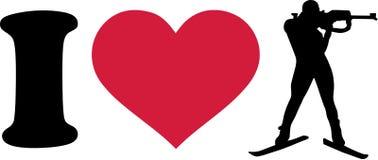 I heart Biathlon Royalty Free Stock Photography