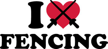 I heart fencing Stock Photo