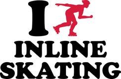 I heart Inline Skating. Vector vector Royalty Free Stock Image