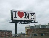 I heart New York. Billboard stock photography