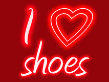 I heart shoes Royalty Free Stock Photography