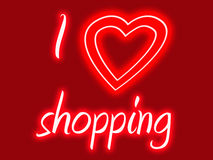 I heart shopping Royalty Free Stock Photos