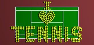I Heart Tennis Stock Photography