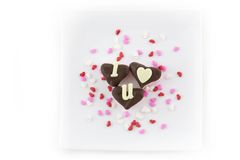 I heart U Marshmallows Stock Images