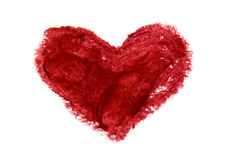 I heart you. Smudgy heart, a simple illustration of love and romance, on a neutral background Royalty Free Stock Photos