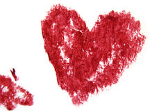 I heart you. Smudgy heart, a simple illustration of love and romance, on a neutral background Stock Photo