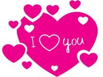 I love you hearts Royalty Free Stock Photos