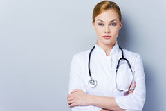 I am here to take care of you health. Royalty Free Stock Photography