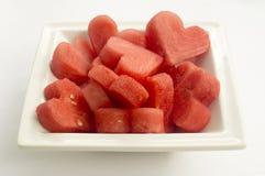 I Herz-Wassermelone Stockfotos