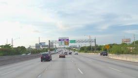 I95 het drijven van Miami Florida stock video
