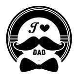 ` I het kenteken van de Liefdepapa ` De unieke vectortypografie van de vader` s dag, die voor druk van letters voorzien stock afbeeldingen