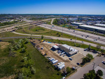 I25 and Highway 36. Aerial view of I25 and highway 36 in Denver, Colorado Stock Photography